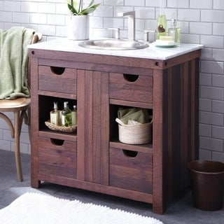Cabernet Weathered Oak Single Bowl Bathroom Vanity
