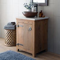 Americana Chestnut 24-inch Reclaimed Wood Bathroom Vanity