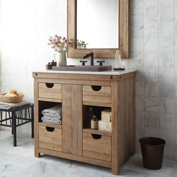 Shop Chardonnay Weathered Oak Bathroom Vanity Free Shipping Today