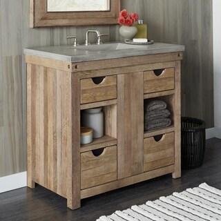 Chardonnay Weathered Oak Bathroom Vanity