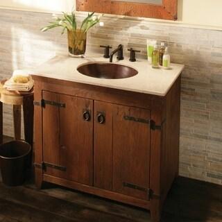 Americana Chestnut 36-inch Reclaimed Wood Bathroom Vanity