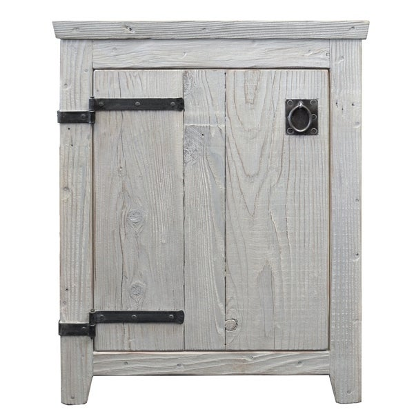 Americana Driftwood 24 Inch Reclaimed Wood Bathroom Vanity