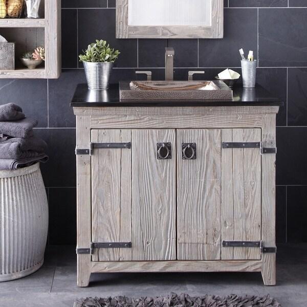 Shop Americana Driftwood 36 Inch Reclaimed Wood Bathroom