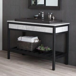 Cuzco Carrara 48-inch Handcrafted Steel Bath Vanity