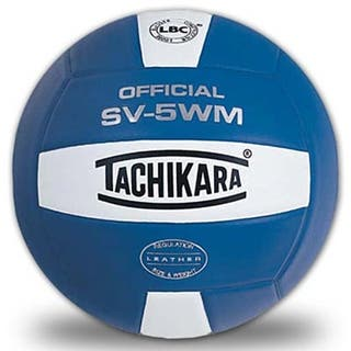 Tachikara SV5WM Leather Indoor Volleyball (Royal Blue and White)|https://ak1.ostkcdn.com/images/products/18235473/P24374993.jpg?impolicy=medium