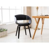 Porthos Homes Mid-century Style Dining Chair With Metal Legs,Arm Rests
