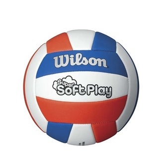 Wilson Super Soft Play Volleyball-Red/White/Blue
