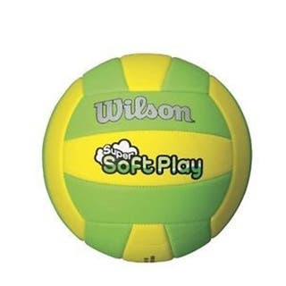 Wilson Super Soft Play Volleyball-Yellow/Green|https://ak1.ostkcdn.com/images/products/18235516/P24375031.jpg?impolicy=medium