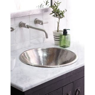 Cazo Brushed Nickel Drop-in/ Vessel Round Bathroom Sink|https://ak1.ostkcdn.com/images/products/18235537/P24375049.jpg?impolicy=medium