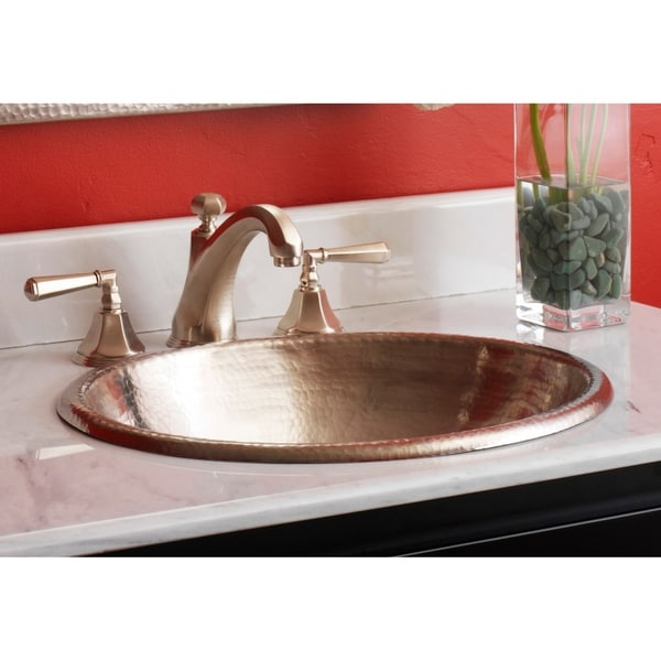 Shop Rolled Classic Brushed Nickel Drop In Oval Bathroom Sink