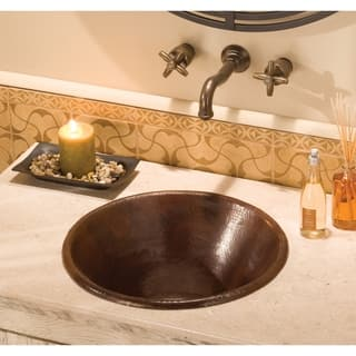 Cazo Antique Copper Drop-in/ Vessel Round Bathroom Sink|https://ak1.ostkcdn.com/images/products/18235539/P24375051.jpg?impolicy=medium