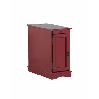 Powell Butler Red Finish Wooden Accent Table