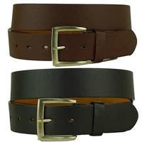 Mens Solid Leather Belts (Pack of 2)