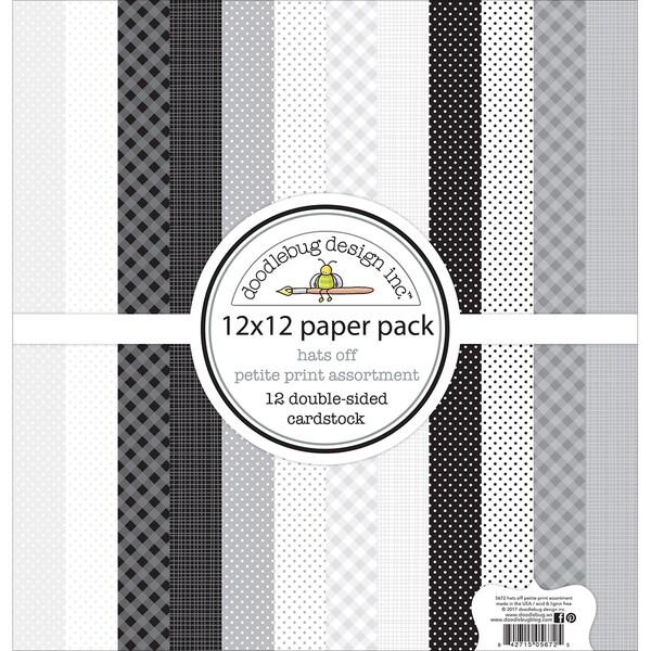 doodlebug petite prints double sided cardstock 12 x12 12 pk free