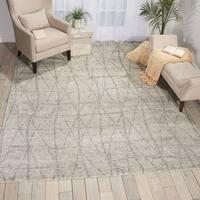Nourison Ellora Stone Fabric/Cotton/Wool Indoor Rectangular Area Rug - 8'6 X 11'6