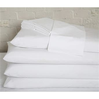 Affluence Hospitality 200 Cotton/Polyester Dozen Flat Sheets