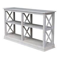 International Concepts Hampton Sofa-Server Table with Shelves