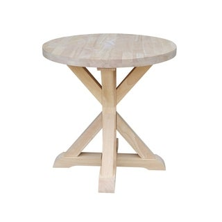 International Concepts Sierra Natural Parawood Round End Table