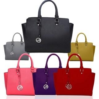 KM Women Top Handle Fashion Vegan Faux Leather Satchel Shoulder Handbag