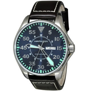 Hamilton H64715545 Khaki Aviation Men's Blue Dial Watch|https://ak1.ostkcdn.com/images/products/18235812/P24375305.jpg?_ostk_perf_=percv&impolicy=medium