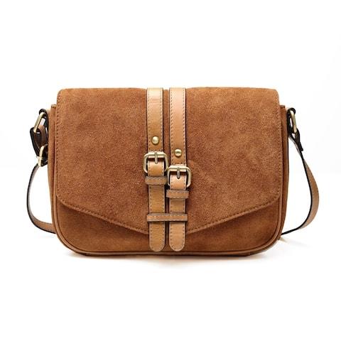 Jeanie Suede Leather Crossbody Handbag - S