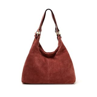 Joi Suede Leather Handbag - M (Option: Suede)|https://ak1.ostkcdn.com/images/products/18235881/P24375336.jpg?impolicy=medium