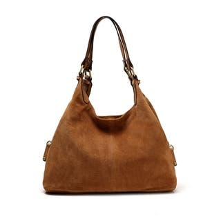 Joi Suede Leather Handbag - M (Option: Suede)|https://ak1.ostkcdn.com/images/products/18235911/P24375367.jpg?impolicy=medium