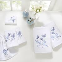 Madison Park Callia Blue Embroidered Cotton 6-piece Towel Set