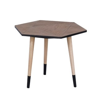24x20x18 HEXA TABLE, Wooden Side Table