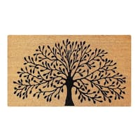 A1HC First Impression Shredding Tree FADE RESISTANT 24 in. x 39 in. Coir Flocked Door Mat