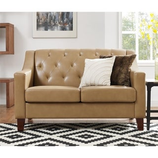 Avenue Greene Everest Taupe Tufted Back Track Arm Loveseat