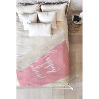 Lisa Argyropoulos Happy Vibes Blushly Fleece Throw Blanket