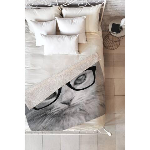 Allyson Johnson Hippest Cat Fleece Throw Blanket