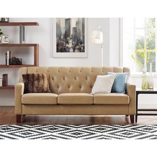 Avenue Greene Everest Taupe Tufted Back Track Arm Sofa