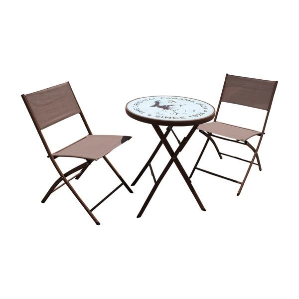 Astounding Shop Panama Jack Cafe 3 Pc Folding Sling Bistro Set Free Bralicious Painted Fabric Chair Ideas Braliciousco