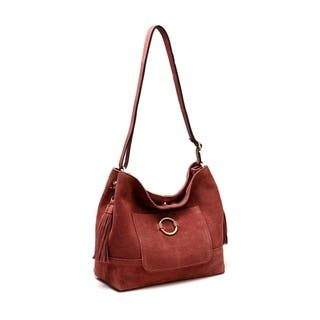 Cammi Suede leather Handbag - M (Option: Suede)|https://ak1.ostkcdn.com/images/products/18236058/P24375495.jpg?impolicy=medium