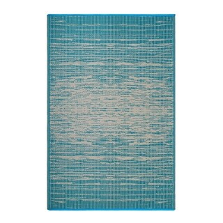 Fab Habitat Indoor/Outdoor Recycled Plastic Rug - Brooklyn - Teal (6' x 9')