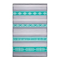 Fab Habitat Indoor/Outdoor Recycled Plastic Rug - Ibiza - Green Multi (4' x 6')