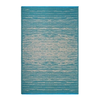 Fab Habitat Indoor/Outdoor Recycled Plastic Rug - Brooklyn - Teal (5' x 8')