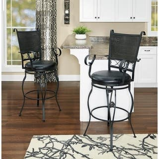 Shop Powell Aberdeen Counter Stool With Arms On Sale