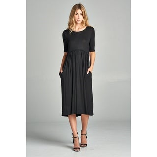 Spicy Mix Womens Aspen Empire Waist Midi Dress w/Pockets