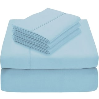 Luxury Ultra-Soft 1800 Platinum Bed Sheet Set - Includes 2 Extra Pillowcases