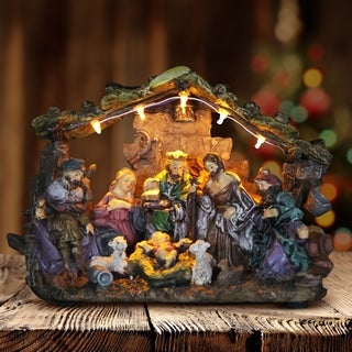 Nativity Set with LED Lights
