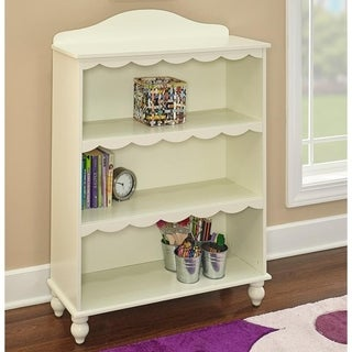 Powell Torri White Finish Wood Bookcase