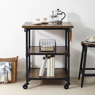 Avenue Greene Fredda Antique Oak Multifunction Cart