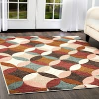 "Home Dynamix Tribeca Multi-colored Abstract Circles Rug (5'2"" X 7'2"")"