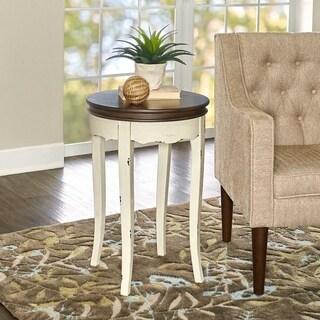 Rachel White Round Table - Antique White