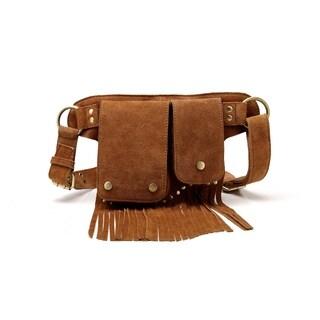 Floretta Suede Leather Fringe Waistpack