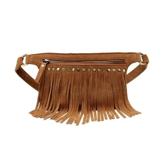 Daisi Suede Leather Fringe Waistbag