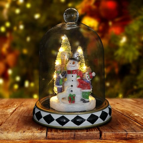 Snowman Christmas Dome with LED Timer